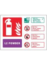 L2 Powder Extinguisher Identification