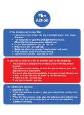 Fire Action Notice (Stay Put) for Flats