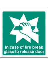 Break Glass to Release Door