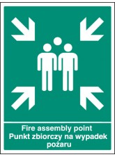 Fire Assembly Point (English / Polish)