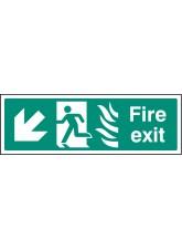 HTM Fire Exit - Arrow Down Left