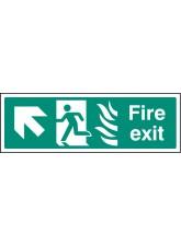 HTM Fire Exit - Arrow Up Left