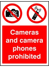 Cameras and Camera Phones Prohibited