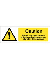 Caution Bleach and Other Harmful Irritants and Substances Are Stored in this Cupboard