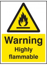Warning Highly Flammable