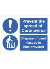 Coronavirus - Dispose of used tissues