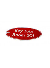Red Key Fob - Oval