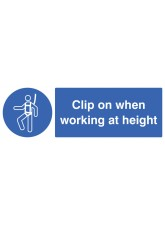 Clip On When Working At Height