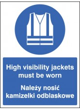High Visibility Jackets Must be Worn (English / Polish)