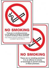 Double Sided No Smoking Premise - (Scotland)