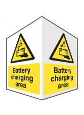 Battery Charging - Projecting Sign