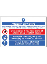 Coronavirus Floor Graphic - Attention all Visitors