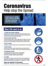 Coronavirus Information Poster