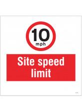 10mph Site Speed Limit - Site Saver Sign - 400 x 400mm