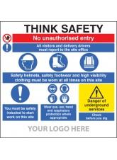 Site Safety Board - Multi-message - Underground Services - Site Saver Sign 1220 x 1220mm