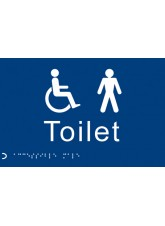 Braille - Toilet Gents / Disabled