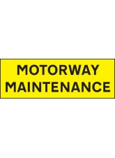 Motorway Maintenance - Reflective Self Adhesive Vinyl - 800 x 275mm