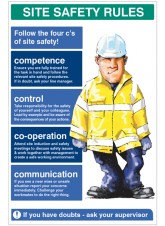 Site Safety Rules the Four C's of Site Safety - 5mm PVC - 600 x 900mm