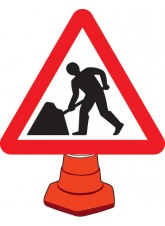 Road Works - Cone Sign - 750mm