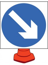 Keep Right - Cone Sign - 750mm