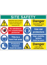 Site Safety Board 900 x 1200mm