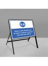 Mandatory Social Road Frame Sign