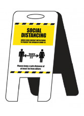 Social Distancing Lightweight A-Frame - 1m / 2m / Generic Distance Options