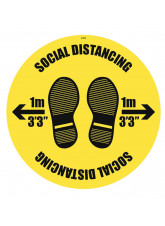 Social Distancing Floor Graphic - 1m / 2m / Generic Distance Options