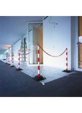 10m Chain Post Kit - 6 Posts - 10m Chain - 10 Hooks & Links - Concrete Base