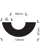 Impact Protection - Curvature for 85mm Diameter Pipes - Self Adhesive