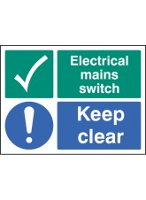 Electrical Mains Switch Keep Clear