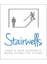 Stairwell Sign - Keep a Safe Distance when using the Stairs