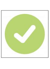 Tick - Self Adhesive Sticker