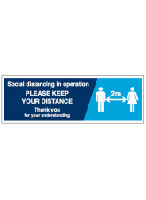 Social Distancing in Operation,  Please Keep your Distance