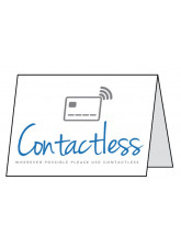 Contactless - Whenever possible please use contactless - Double Sided Table Card