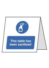 This Table has been Sanitised - Double Sided Table Card